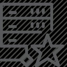 favorite, hosting, layers, network, server, star, web icon