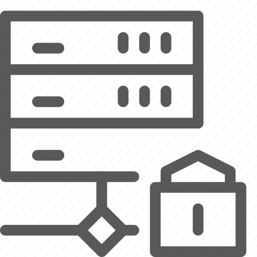 encrypt, hosting, layers, lock, network, protect, server, web icon