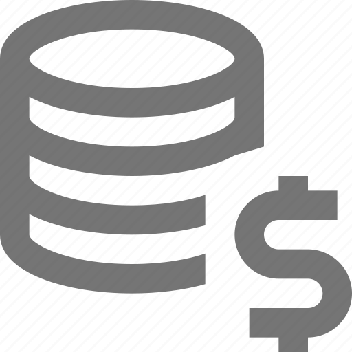 cloud, currency, database, dollar, money, network, server, storage icon
