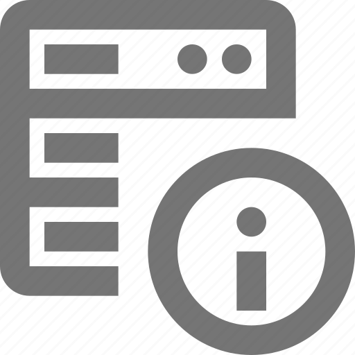 information, server icon