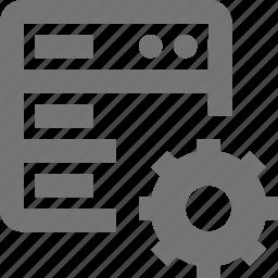 configuration, gear, server, settings icon