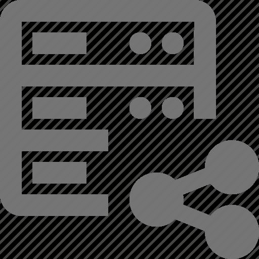 cloud, database, hosting, network, server, share, social, storage icon