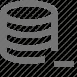 minimize, minus, server icon