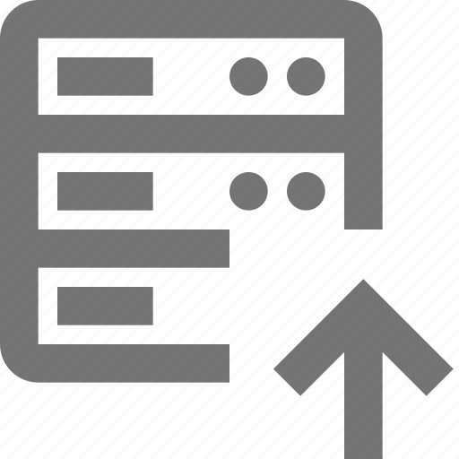 arrow, cloud, database, network, server, storage, up, upload icon