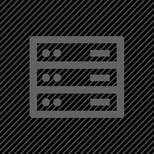 computer, hardware, server icon