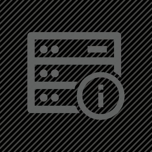 hardware, help, information, server icon