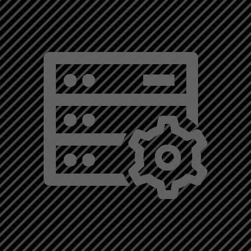 gear, hardware, options, server, setting icon