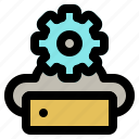 diagnostic, maintenance, recover, repair, server, service, support icon