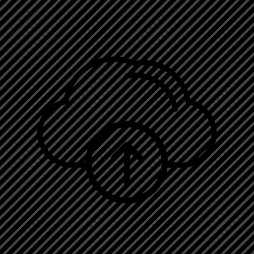 cloud, cloud server, upload, upload to cloud, upload to server icon