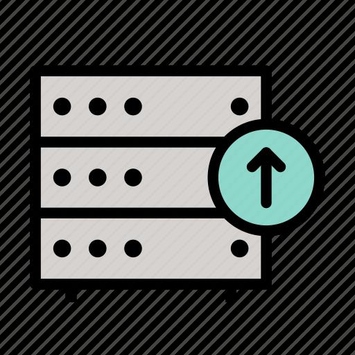 database, download, server, storage, up, upload icon