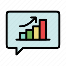 analytics, growth, report, schedule, seo, statistics, talk icon