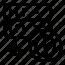 chart, datacenter, graph, server, storage icon