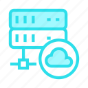 cloud, computing, database, server, storage icon