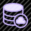 cloud, database, datacenter, server, storage