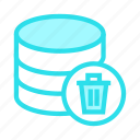 database, delete, mianframe, storage, trash icon
