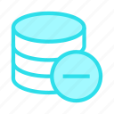 database, mainframe, remove, server, storage icon