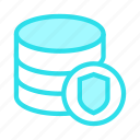 database, datacenter, protection, shield, storage icon