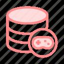 database, game, play, server, storage icon