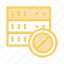 ban, block, database, mainframe, storage icon