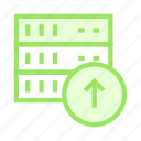 database, mianframe, server, storage, upload icon