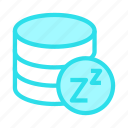 database, mainframe, server, sleep, storage icon