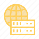 database, global, server, storage, world icon
