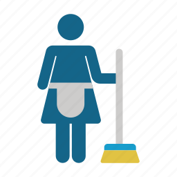 broom, clean, cleaning, domestic, housework, hygiene, service icon