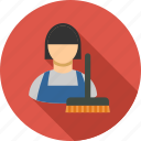 broom, clean, cleaner, cleaning, clear, housework, service icon