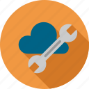 cloud, configuration, online, options, settings, tools, weather icon
