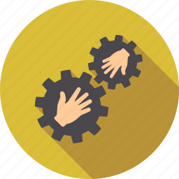 business, communication, connection, contact, cooperation, integration, teamwork icon