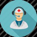 call center, doctor, emergency service, help desk, hospital, hotline number, phone operator
