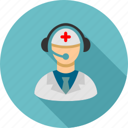 call center, doctor, emergency service, help desk, hospital, hotline number, phone operator icon