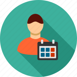 calendar, clock, duty, event, plan, schedule, timetable icon