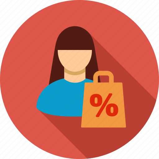 buy, client, customer, hand bag, sale, shop, shopping icon