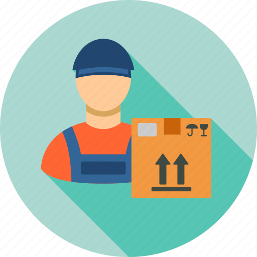 courier, delivery, package, shipping, transport, transportation, work icon