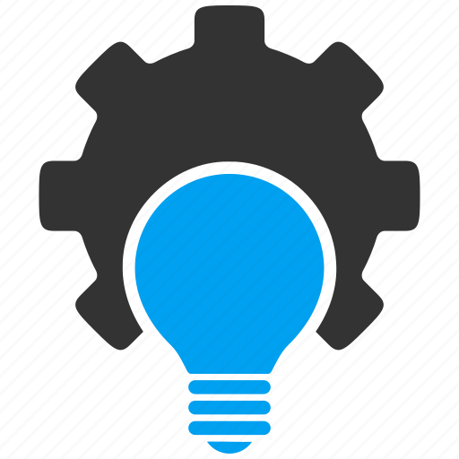 electricity, energy, gear, industry, light bulb, power, technology icon