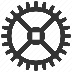 clock wheel, cogwheel, control center, equipment, factory, gear, system tools icon