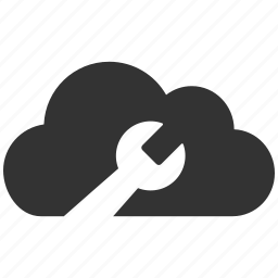cloud tools, internet, repair, service, spanner, web, wrench icon