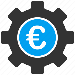 euro, gear, mechanical, money, settings, technology, wheel icon