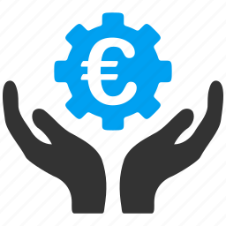 euro, gear, maintenance, project, service, settings, support icon
