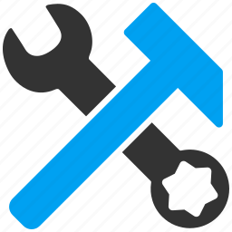 hammer, repair, service, spanner, tools, work, wrench icon