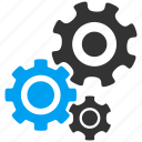 application tools, control center, desktop settings, mechanism, options, system configuration, transmission gears icon