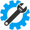engineering, equipment, gear, industry, repair, work, wrench icon