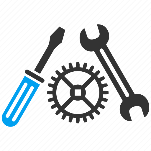Repair, screwdriver, service, spanner, tool, wrench, gear icon - Download on Iconfinder