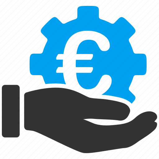 business, development, euro service, finance, investment, money, support icon