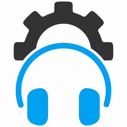 audio control, configuration, head phones, headset, settings, support, technology icon