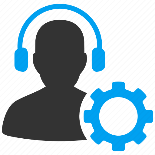 call center, configuration, customer support, emergency assistant, helpline operator, professional headset, settings icon