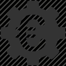 applications, business, development, euro, finance, money, technology icon
