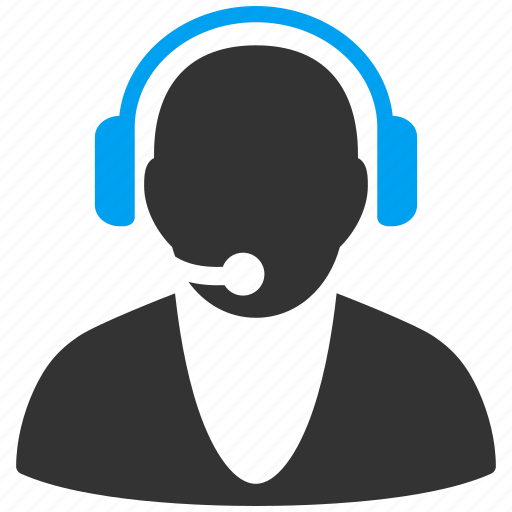 assistant, call center, contact, headset, operator, service man, support icon
