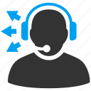 call center, chat, customer service, headset, message, operator, support icon